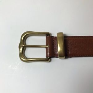 Fossil Genuine Leather Belt w/ Solid Brass Buckle